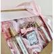 Różowy FLOWER BOX z perfumami